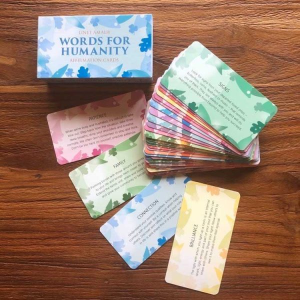 Words For Humanity Card by Dr Linet